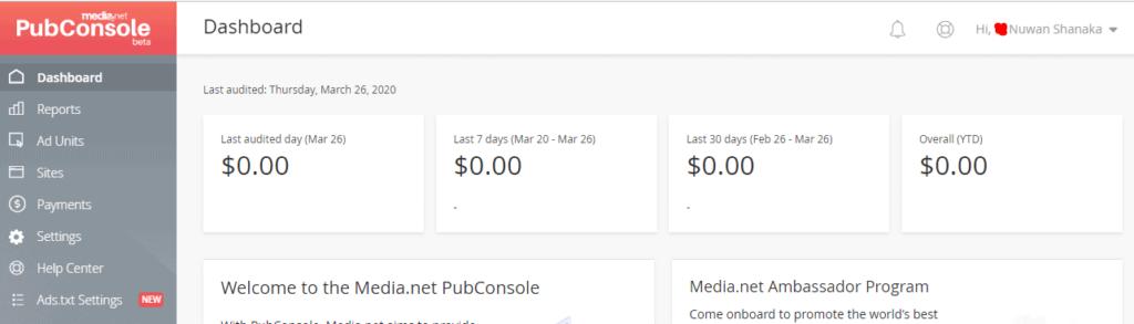 media-net-dashboard